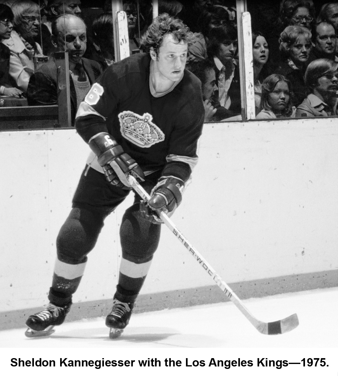 Sheldon Kannegiesser with the Los Angeles Kings — 1975.
